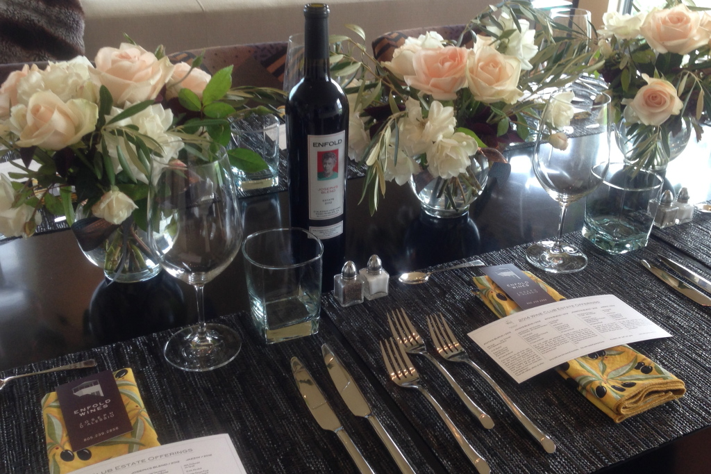 Enfold wine and food pairings are available to members